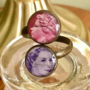 Jewelry - Queen Elizabeth Postage Stamp Adjustable Ring